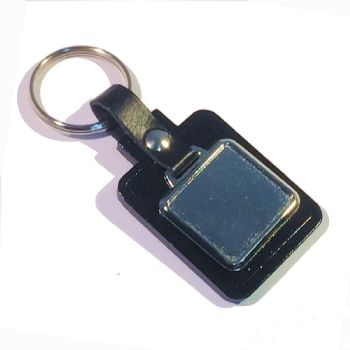 Keyfob Blank Rectangle 26x24mm recess